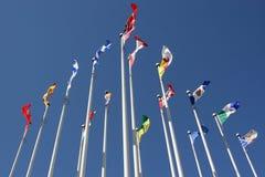 Bandeiras no pólo Fotografia de Stock