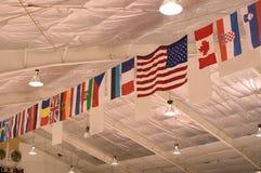 Bandeiras no teto Imagem de Stock