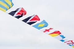 Bandeiras no vento imagens de stock