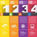Bandeiras numeradas Imagens de Stock