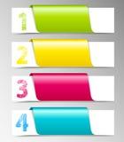 Bandeiras numeradas Foto de Stock
