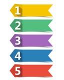 bandeiras numeradas ilustração stock