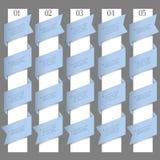 Bandeiras numeradas no estilo do origami Imagem de Stock