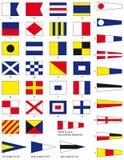 Bandeiras náuticas Imagem de Stock Royalty Free