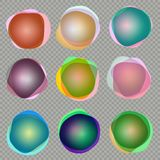 bandeiras olorful do círculo 3d Eps 10 ilustração do vetor
