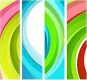 Bandeiras onduladas abstratas Fotografia de Stock
