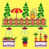 Bandeiras orgânicas da Web do jardim Imagem de Stock Royalty Free
