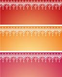 Bandeiras orientais do teste padrão da hena Fotografia de Stock