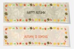 Bandeiras ou encabeçamento bem-vindo do outono para a Web ou a cópia Imagens de Stock Royalty Free