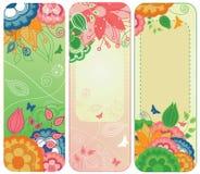 Bandeiras ou endereços da Internet florais doces ilustração royalty free