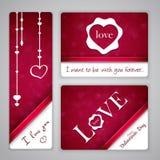 Bandeiras para o dia de Valentim do St. Imagens de Stock Royalty Free
