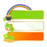 Bandeiras para o dia do St. Patrick Imagens de Stock
