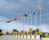 Bandeiras provinciais das províncias de Canadá Fotos de Stock