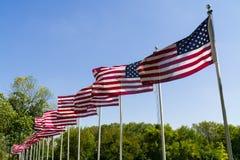 Bandeiras que acenam no vento foto de stock royalty free