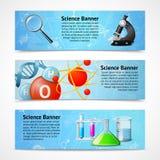 Bandeiras realísticas da ciência Fotos de Stock