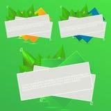 Bandeiras realísticas do verão Imagens de Stock Royalty Free