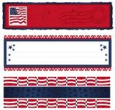 Bandeiras referentes à cultura norte-americana demasiado Fotografia de Stock
