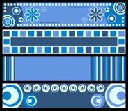 Bandeiras retros [azuis] Fotografia de Stock