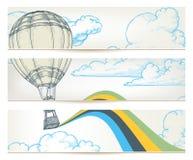 Bandeiras retros do curso Imagem de Stock