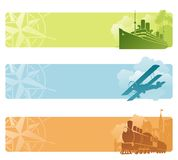 Bandeiras retros do transporte Fotografia de Stock