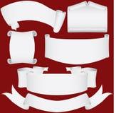 Bandeiras, rolos e jogo de papel do diploma Ilustração Royalty Free
