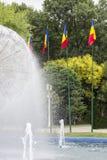 Bandeiras romenas imagens de stock