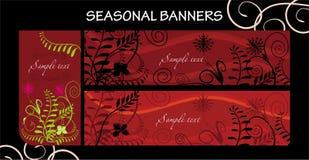 Bandeiras sazonais Fotografia de Stock Royalty Free