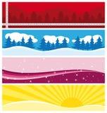 Bandeiras sazonais bonitas. Fotografia de Stock Royalty Free
