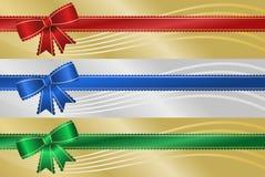 Bandeiras Scalloped da fita Imagens de Stock
