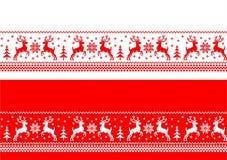 Bandeiras sem emenda do Natal ilustração royalty free
