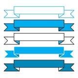 Bandeiras simples de Oktoberfest Imagens de Stock