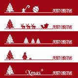 Bandeiras simples eps10 do negócio do vermelho e do White Christmas Foto de Stock Royalty Free