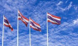 Bandeiras tailandesas Foto de Stock