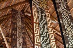Bandeiras temáticos africanas da tela fotos de stock royalty free