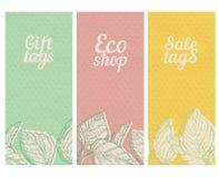 Bandeiras textured papel ajustadas Fotografia de Stock