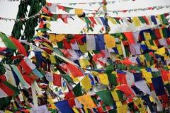 Bandeiras tibetanas da oração Imagens de Stock Royalty Free