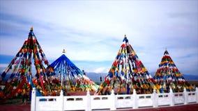 Bandeiras tibetanas, pagodes, templos & estruturas religiosas filme