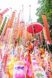 Bandeiras tradicionais do pino da monge Imagem de Stock