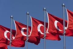 Bandeiras turcas fotografia de stock