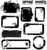 Bandeiras vazias de Grunge Fotos de Stock