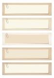 Bandeiras vazias rústicas bege da Web Vetor EPS-10 Imagens de Stock