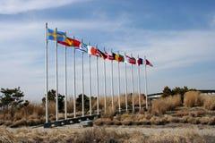 Bandeiras velhas grandes Imagens de Stock