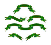 Bandeiras verdes Fotos de Stock Royalty Free