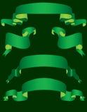 Bandeiras verdes Fotografia de Stock Royalty Free
