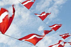 Bandeiras vermelhas imagem de stock