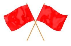 Bandeiras vermelhas Fotografia de Stock Royalty Free