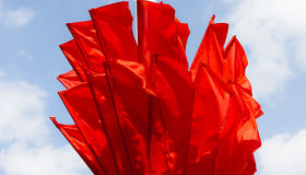 Bandeiras vermelhas Foto de Stock Royalty Free