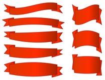 Bandeiras vermelhas ajustadas Imagem de Stock