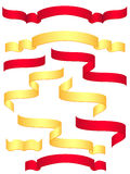 Bandeiras vermelhas e amarelas Ilustração Stock