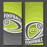 Bandeiras verticais do vetor para o futebol Imagens de Stock Royalty Free